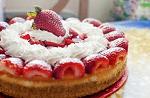 Cheesecake morango e chantilly