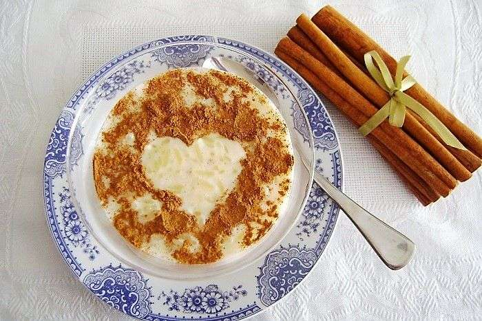 arroz doce decorado