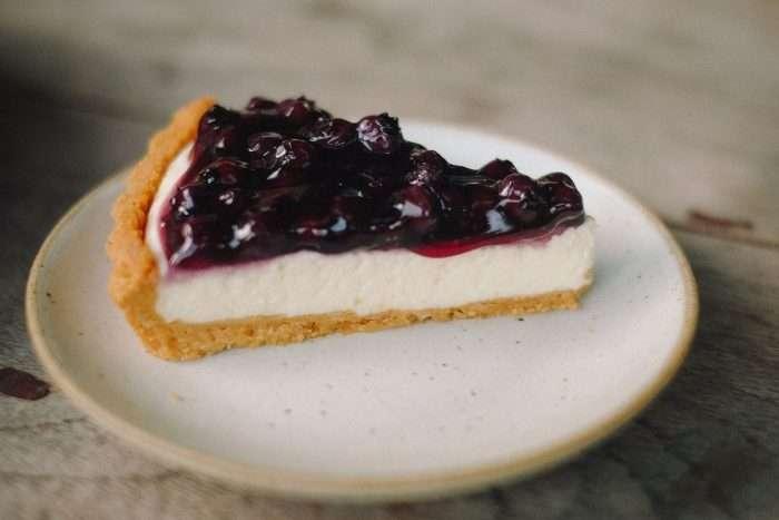cheesecake feito com mascarpone