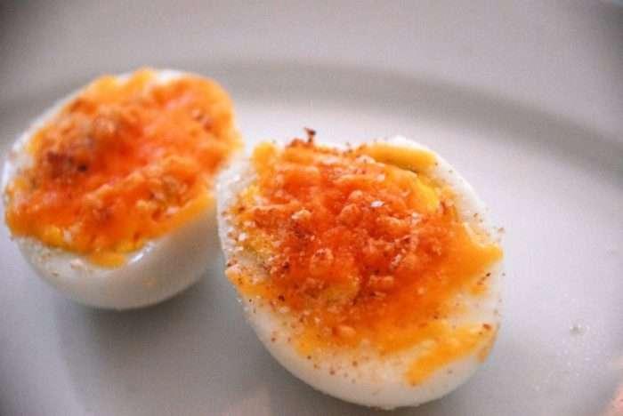 ovos com flor de sal