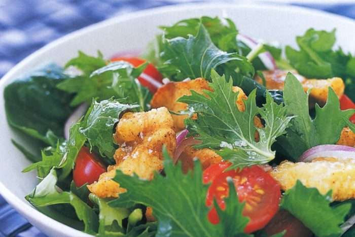 salada com flor de sal
