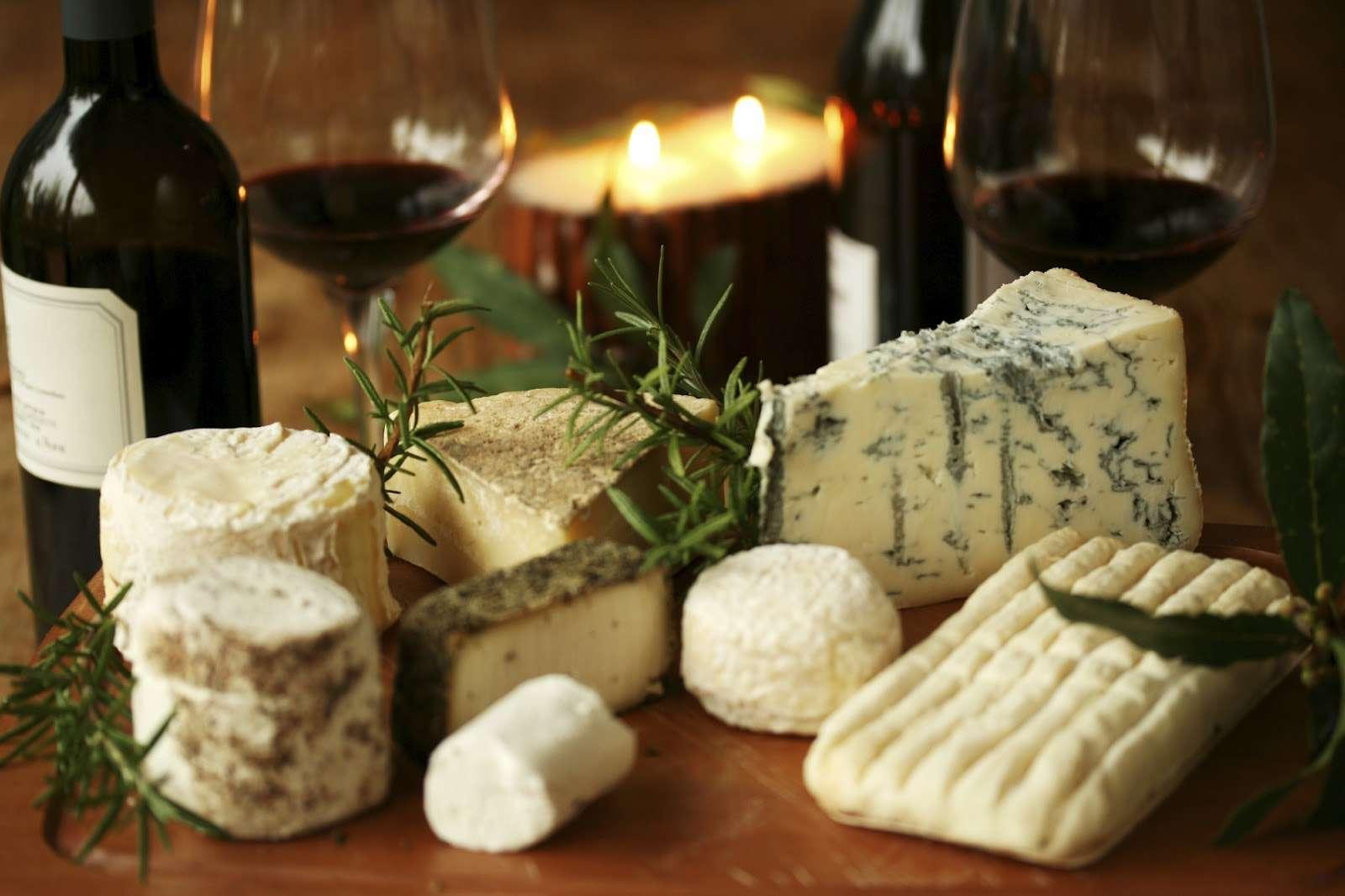 Harmonização de queijos