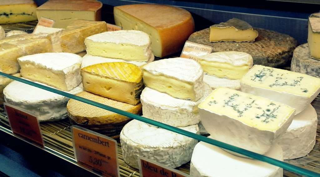 Vitrine de queijos