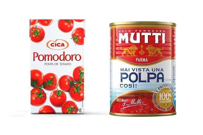 polpa de tomate em lata