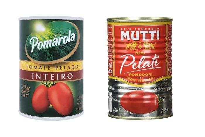 tomate pelado em lata