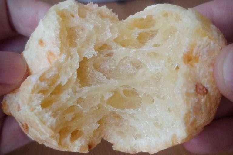 pão de queijo por dentro