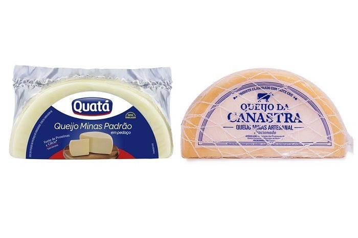 queijo minas e queijo canastra