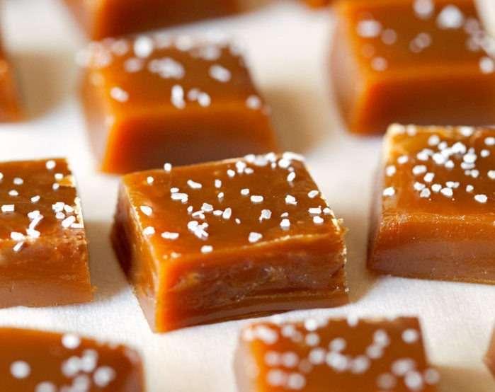 Caramelo com sal kosher
