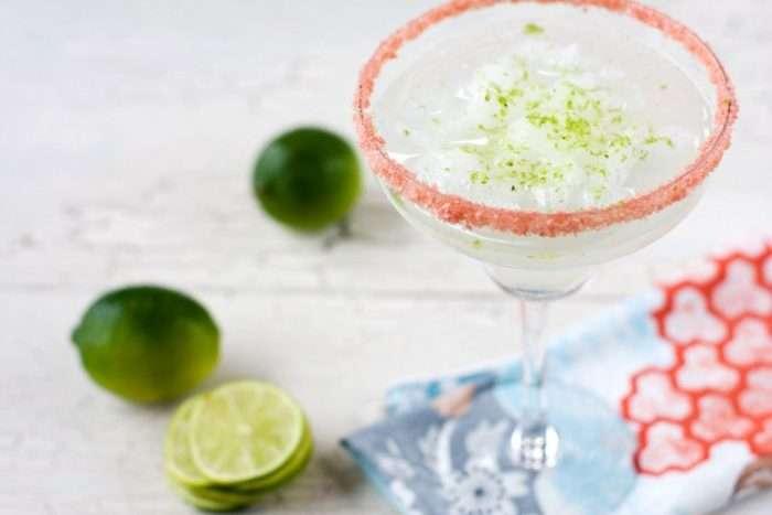 Margarita com sal rosa