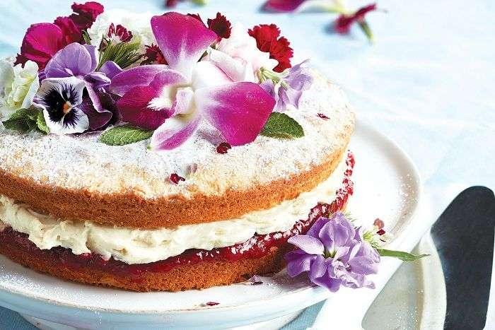 Victoria cake com mascarpone e baunilha