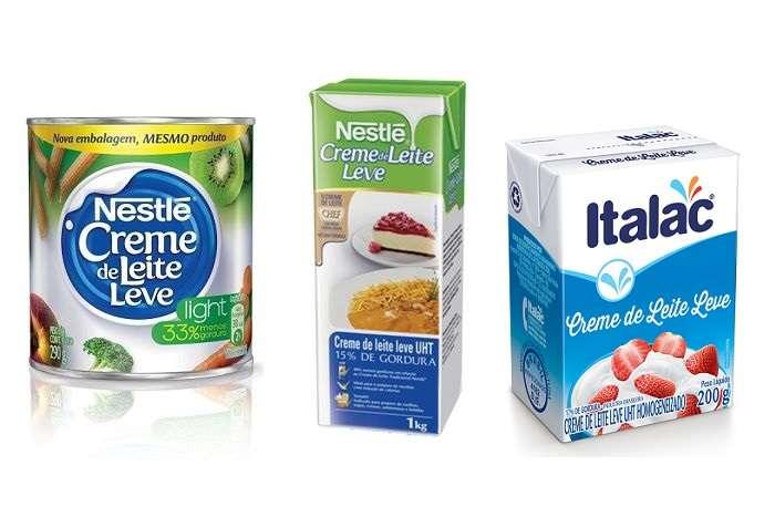 Creme de leite leve ou light