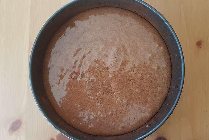 torta caprese pronta para assar
