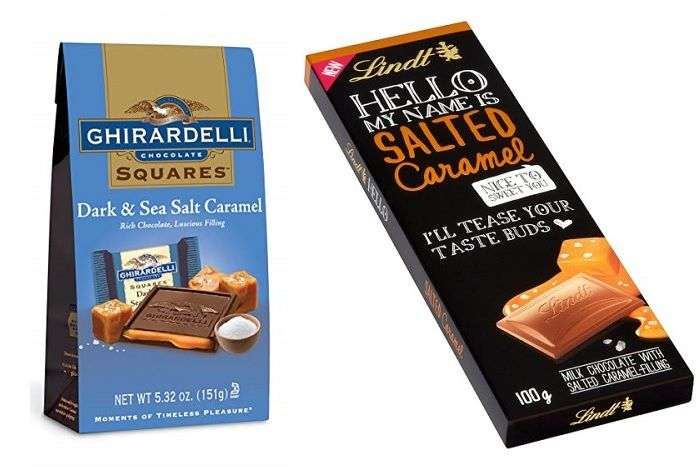 Chocolates das marcas Ghirardelli e Lindt