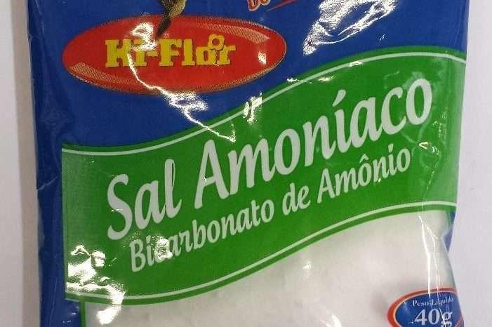 sal amoníaco - bicarbonato de amônio