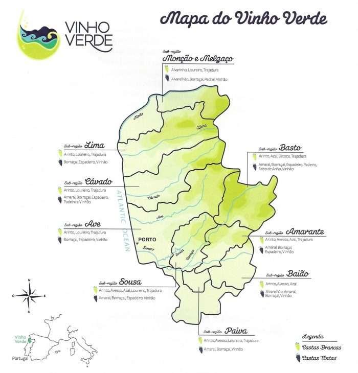 mapa do Vinho Verde