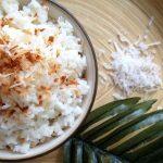 arroz com leite de coco