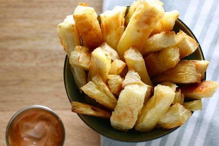 Mandioca ou aipim ou macaxeira fritos