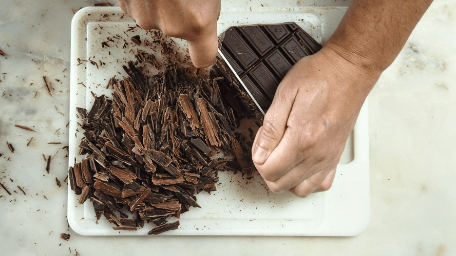 picar o chocolate