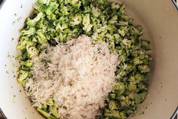 arroz de brócolis