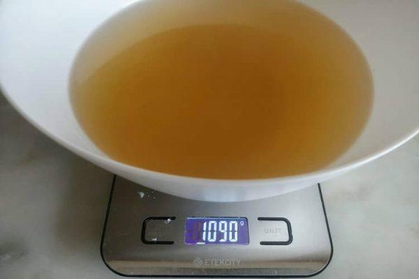 a receita rende cerca de 1 litro de caldo de legumes