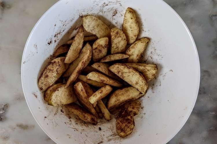 crumble de maçã