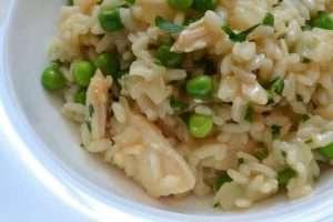 risoto de frango cremoso