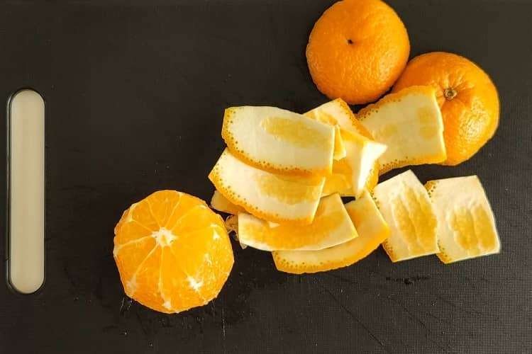preparo da laranja